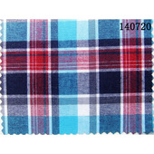 32S平纹棉人棉色织格子